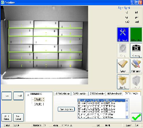 Fig. 2 - Interfaccia e campione di riferimento