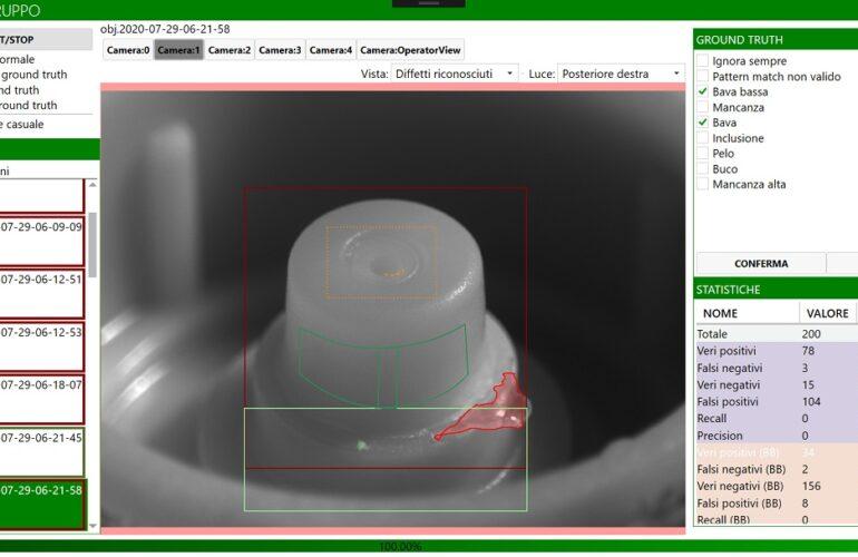 Screenshot demo sistema di visione
